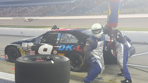 Thomas Praytor Pit Stop at Iowa Speedway 2016