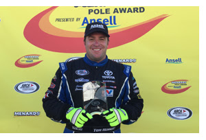 Tom Hessert Pole at Berlin Raceway ARCA 2016