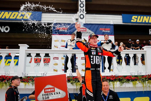 Christian Eckes wins at Pocono Raceway